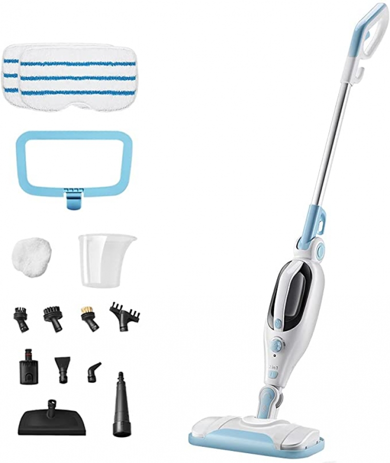 ihocon: Doker 12-in-1 Handheld Steam Cleaner with11 Accessories, 2-Pads 蒸汽拖把