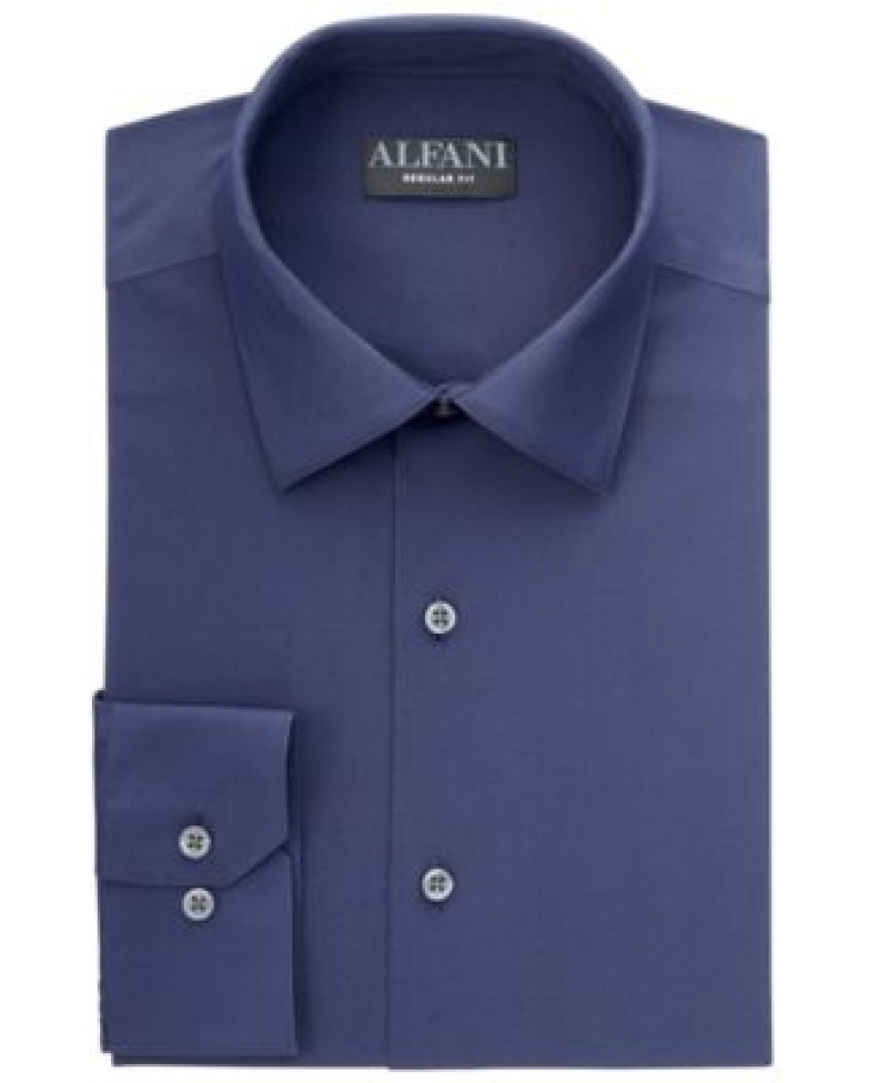 ihocon: Alfani Men's Solid Dress Shirt 男士襯衫