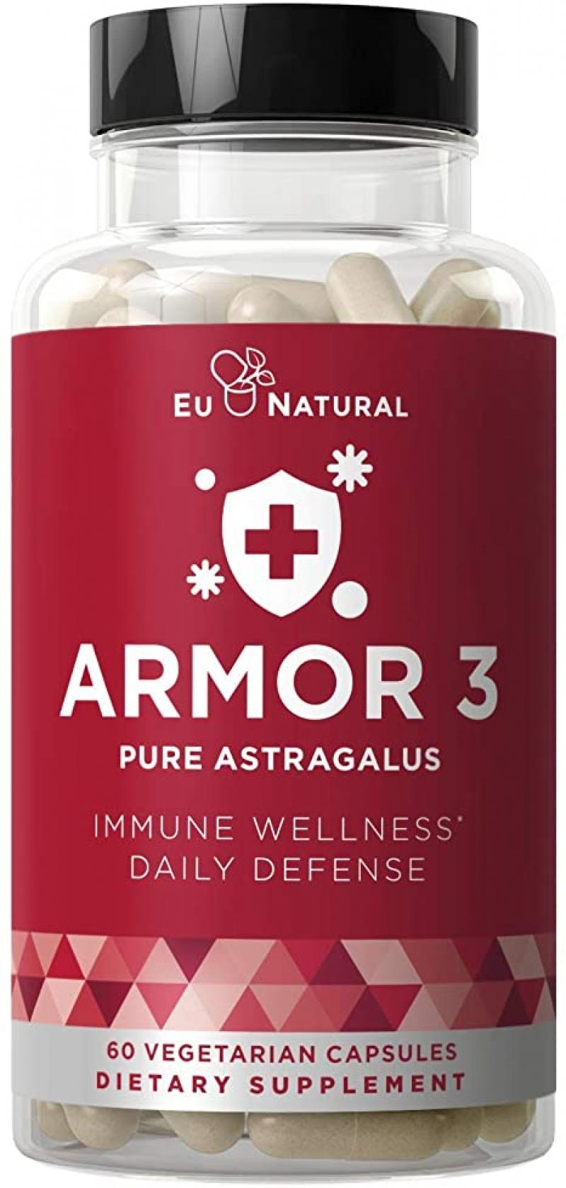 ihocon: Armor 3 Astragalus Pure 1000 Mg, 60 Vegetarian Soft Capsules黃耆
