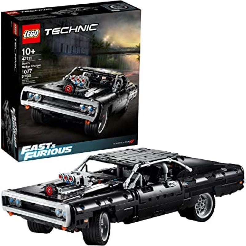 ihocon: LEGO Technic Fast & Furious Dom's Dodge Charger 42111 Race Car Building Set (1,077 Pieces)