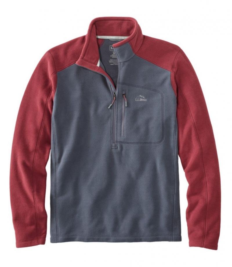 ihocon: Men's Trail Fleece, Quarter-Zip Colorblock 男士長袖衫