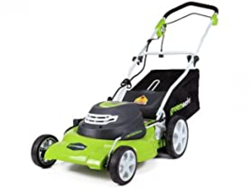 ihocon: Greenworks 25022 12 Amp 20-Inch 3-in-1 Electric Corded Lawn Mower 3合1電動除草機