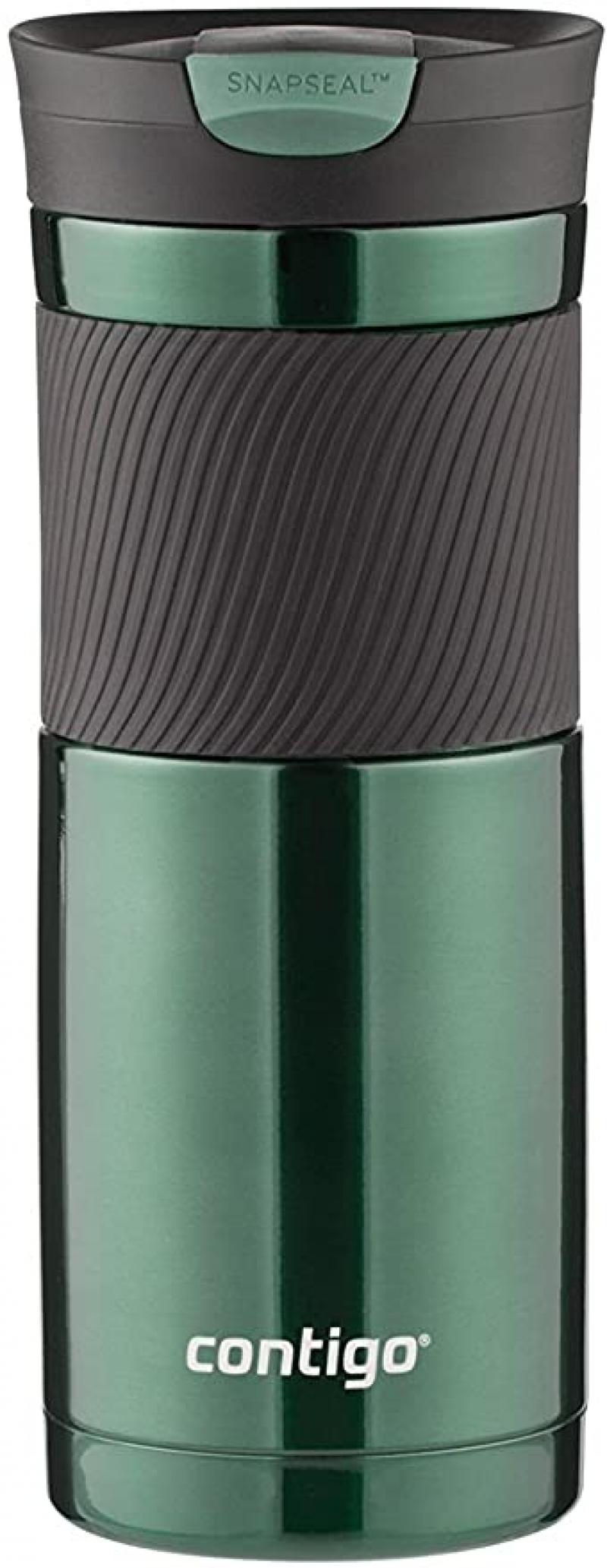 ihocon: Contigo Snapseal Byron Vacuum-Insulated Stainless Steel Travel Mug, 20 Oz., 不銹鋼保温杯
