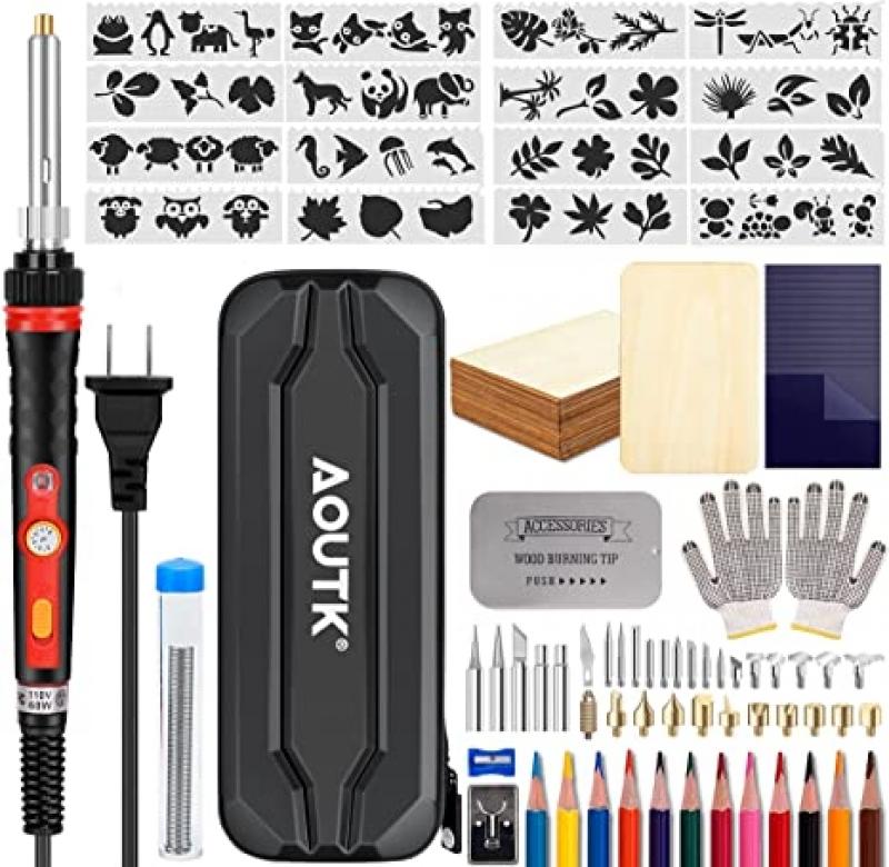 ihocon: AOUTK 98pcs Wood Burning kit 木燒工具