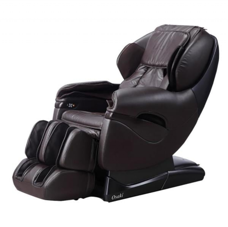 ihocon: TITAN Pro Series Brown Faux Leather Reclining Massage Chair 仿皮按摩椅