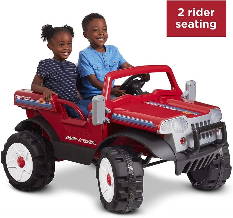 ihocon: Radio Flyer Riptide Car | Outdoor Power Ride On Toy 兒童電動車