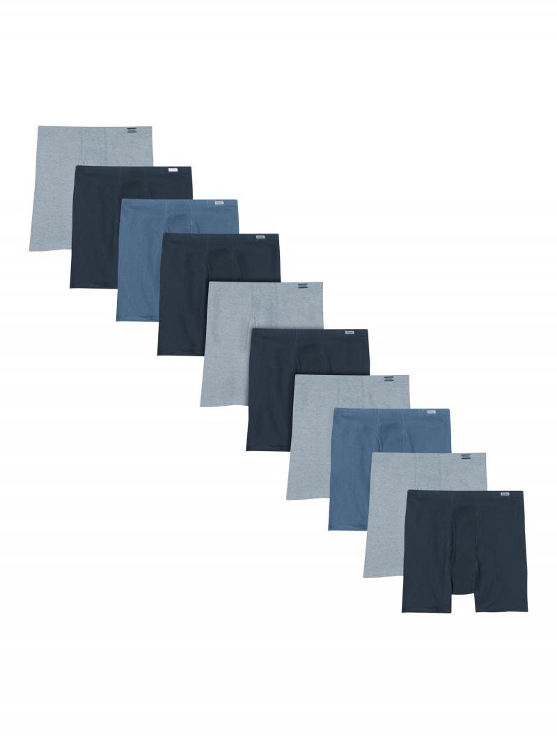 ihocon: Hanes Men's Super Value Pack Covered Waistband Boxer Briefs 10 Pack  男士平角內褲