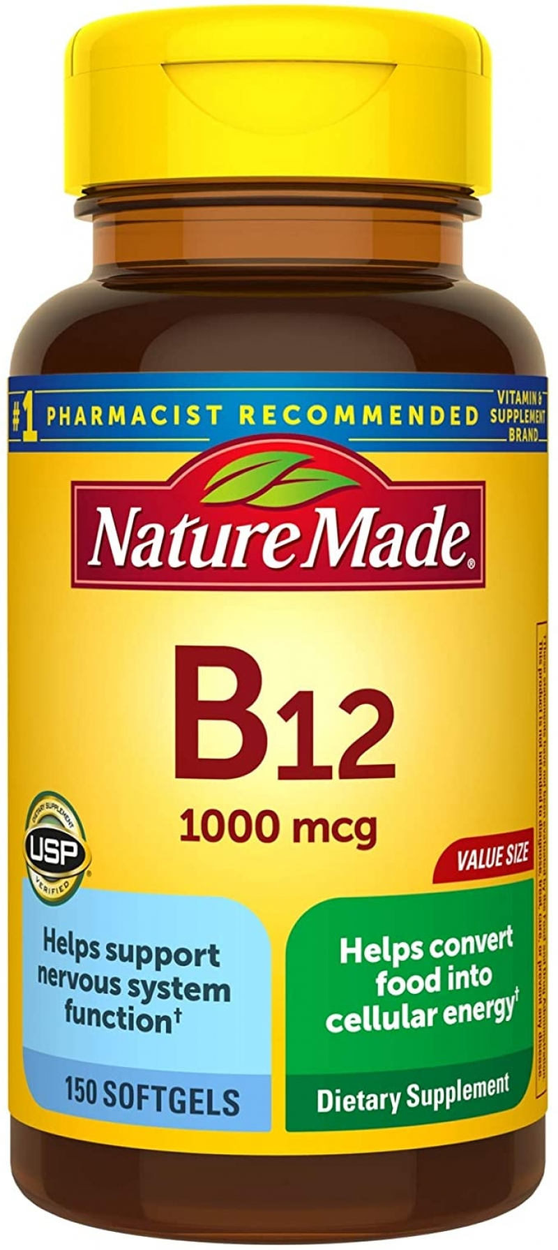 ihocon: Nature Made Vitamin B12 1000 mcg Softgels, 150 Count Value Size for Metabolic Health