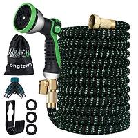 ihocon: Longterm Expandable Garden Hose Set 25 ft 伸縮澆花水管, 含噴水頭