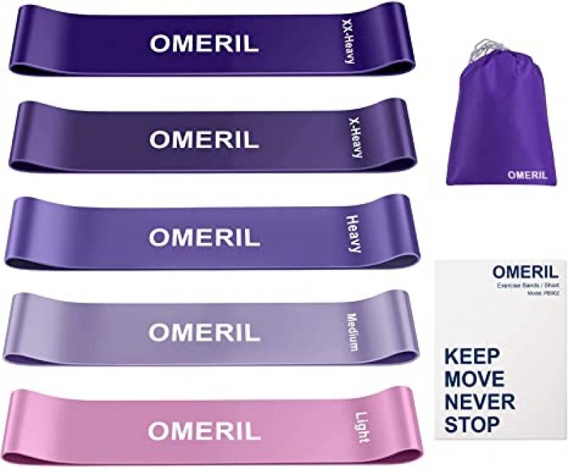 ihocon: OMERIL Resistance Bands for Women 運動健身彈性帶 5條, 附收納袋