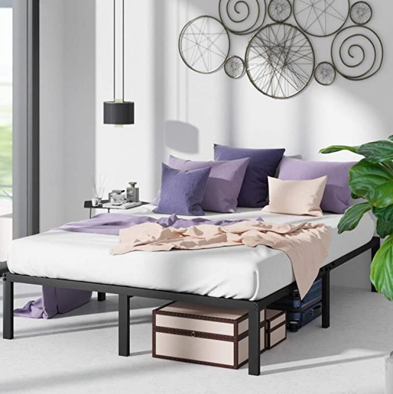 ihocon: ZINUS Yelena Metal Platform Bed Frame, Queen   金屬床架