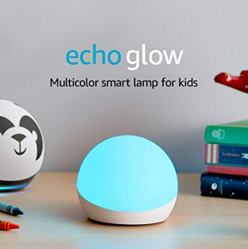 ihocon: Echo Glow - Multicolor smart lamp for kids, a Certified for Humans Device – Requires compatible Alexa device  兒童聲控多色智能燈