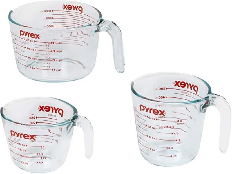 ihocon: Pyrex Glass Measuring Cup Set (3-Piece)玻璃量杯