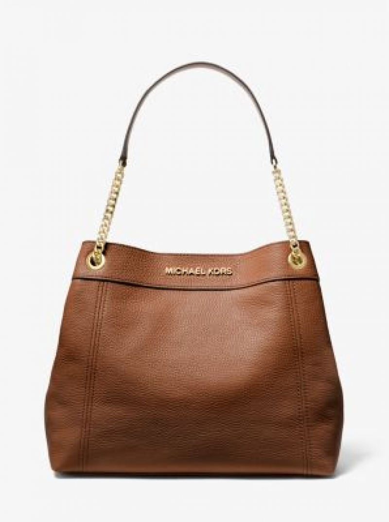 ihocon: Jet Set Large Pebbled Leather Chain Tote Bag 包包