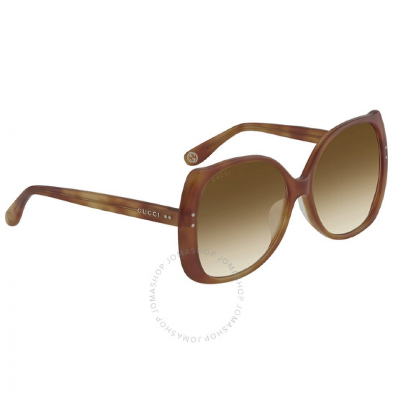 ihocon: Gucci Orange Butterfly Ladies Sunglasses GG0472SA00358 女士太陽眼鏡