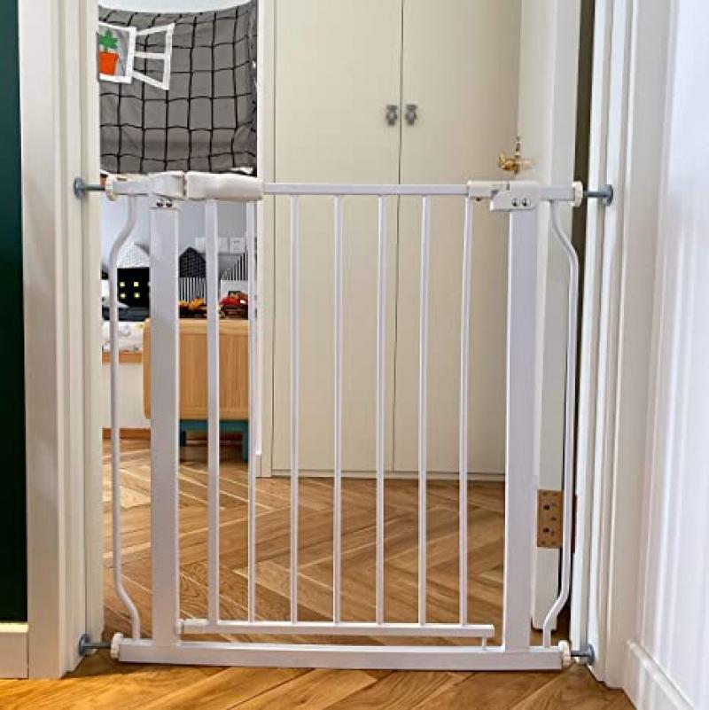 ihocon: BalanceFrom Easy Walk-Thru Safety Gate for Doorways and Stairways with Auto-Close/Hold-Open Features 兒童安全柵欄