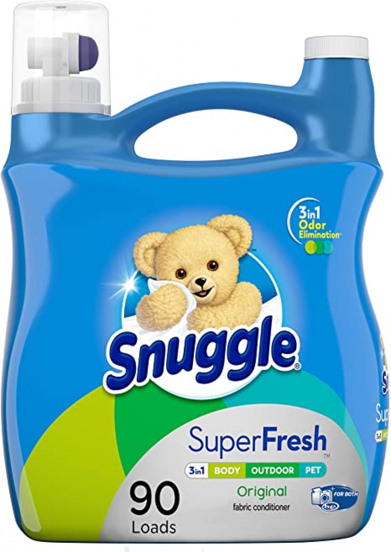 ihocon: Snuggle Plus Super Fresh Liquid Fabric Softener with Odor Eliminating Technology, 95 Fluid Ounces衣物柔軟劑