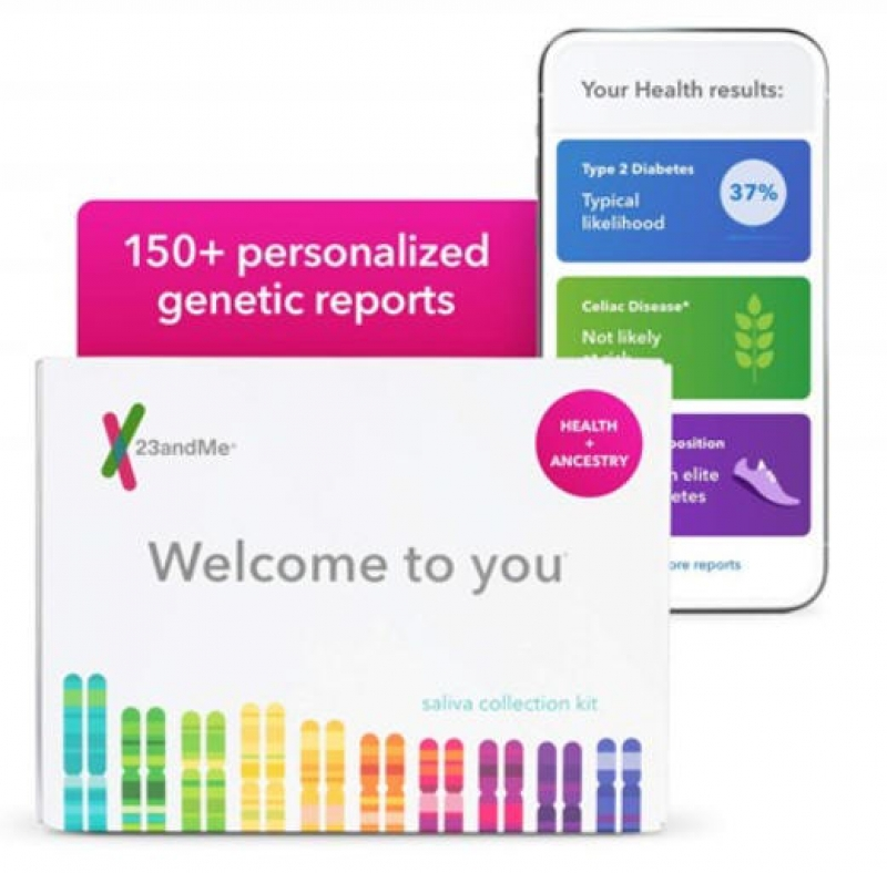 ihocon: 23andMe Health + Ancestry Service: Personal Genetic DNA Test Including Health Predispositions, Carrier Status, Wellness, and Trait Reports 基因檢測
