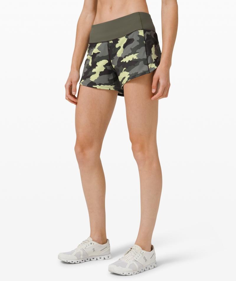 ihocon: Lululemon Speed Up Mid Rise Short 4 Lined 女士短褲