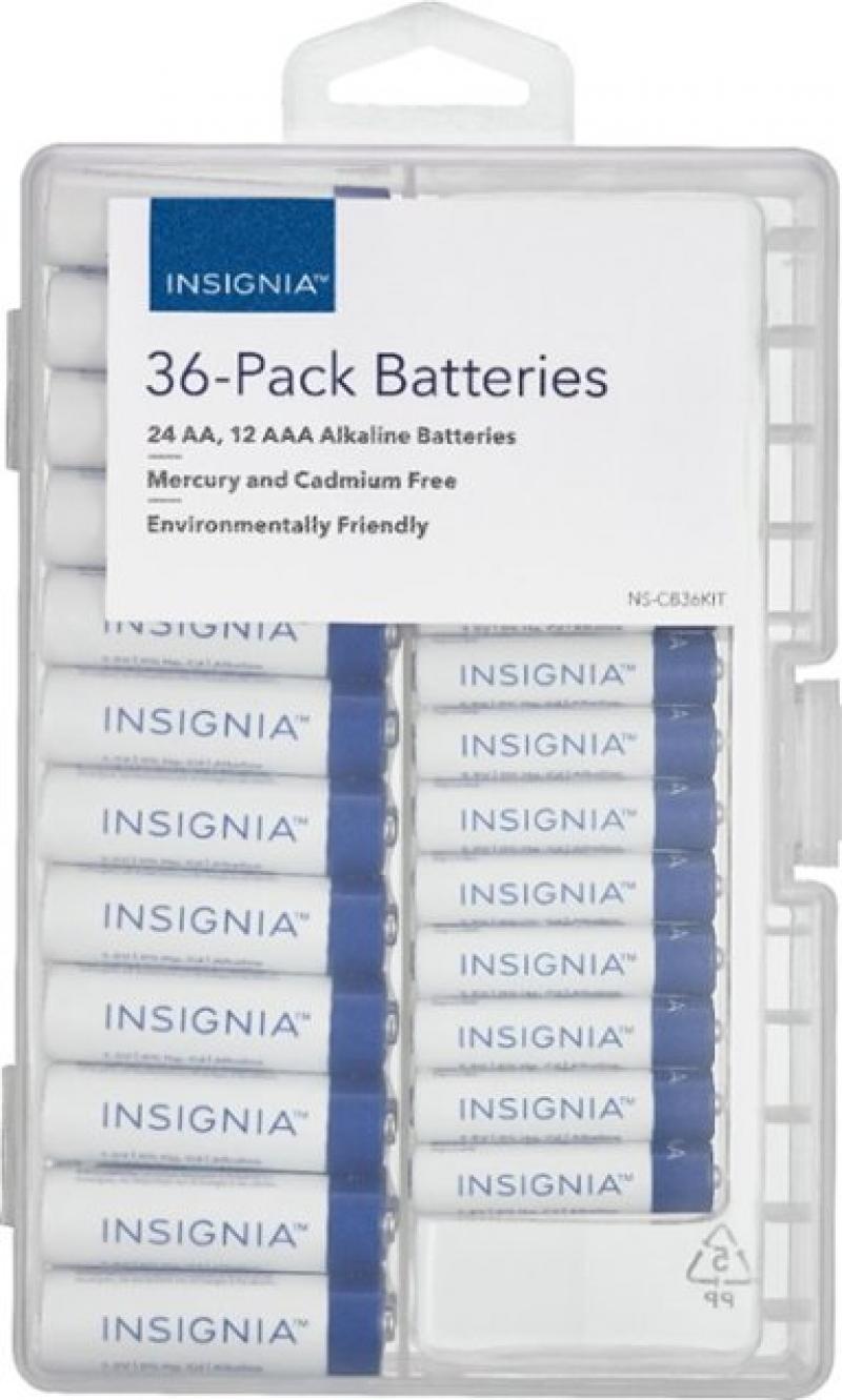 ihocon: Insignia AA / AAA Batteries (36-Pack)電池