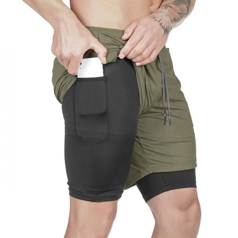 ihocon: Men's Quick Dry Shorts with Towel Loop & Phone Pocket (Size: M-2X) 男士快乾短褲-2色可選