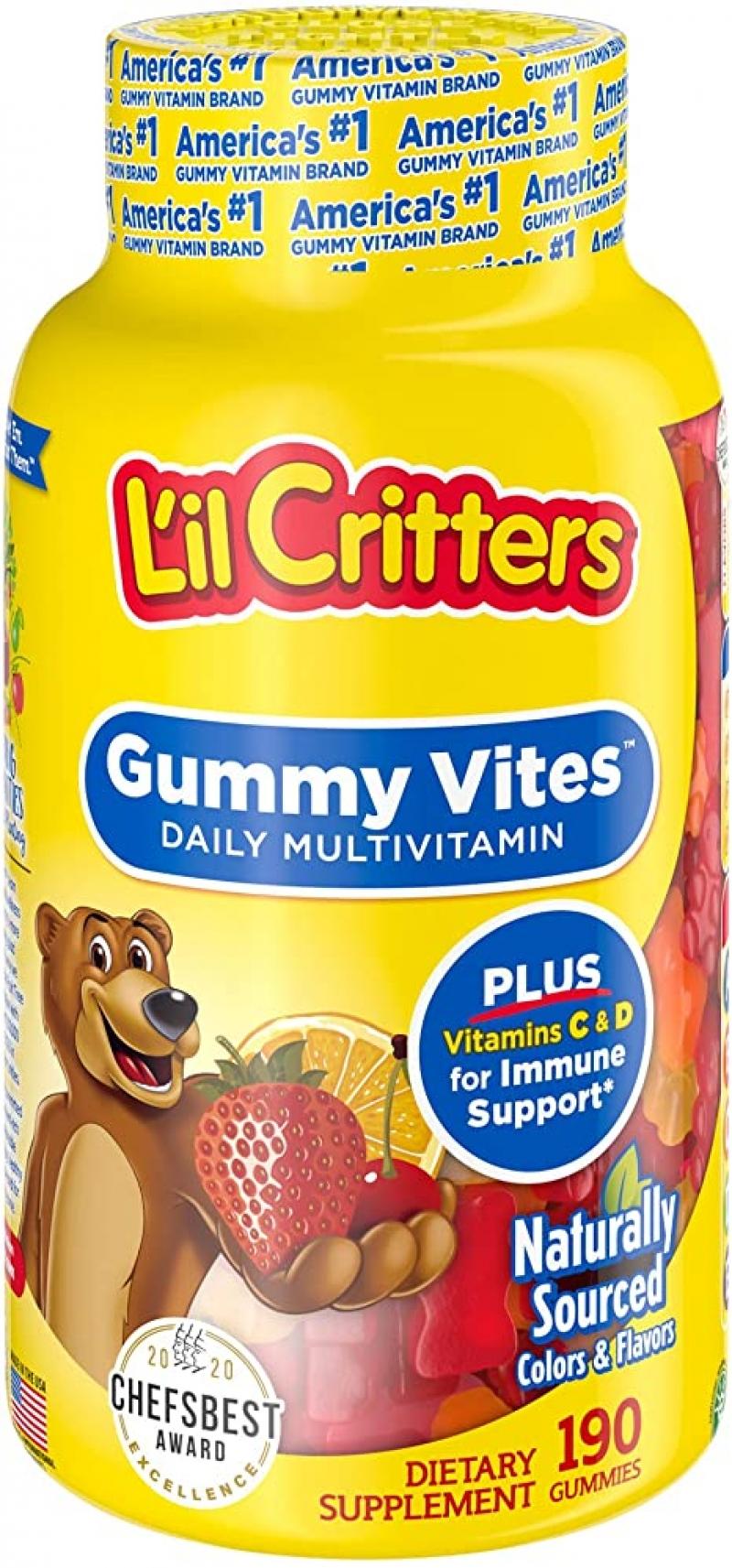 ihocon: Lil Critters Gummy Vites, 190 Count 兒童綜合維他命軟糖