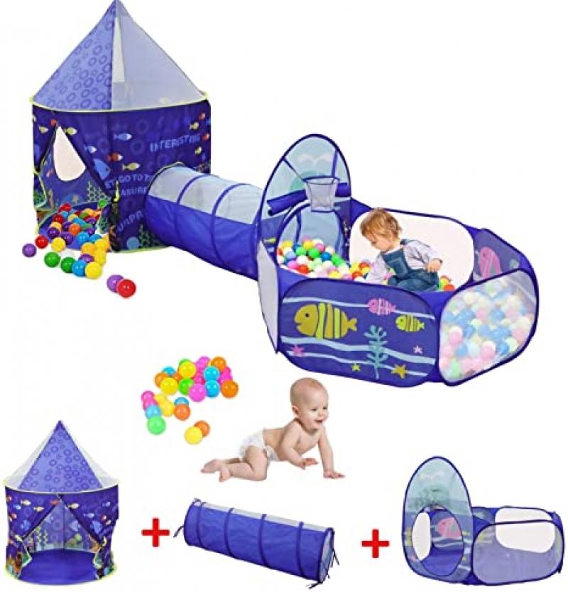 ihocon: snow keychain 3ps Ocean World Kids Play Tent 3件式兒童遊戲帳