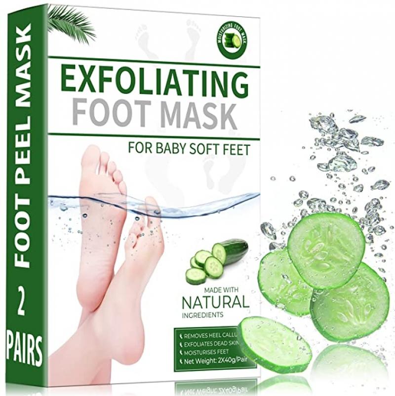 ihocon: Sexrov Foot Peel Mask For Cracked Heels, Dead Skin & Calluses, 2 Pack 足膜2組