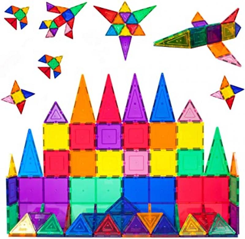 ihocon: PicassoTiles 60 Piece Set 60pcs Magnet Building Tiles 磁性積木
