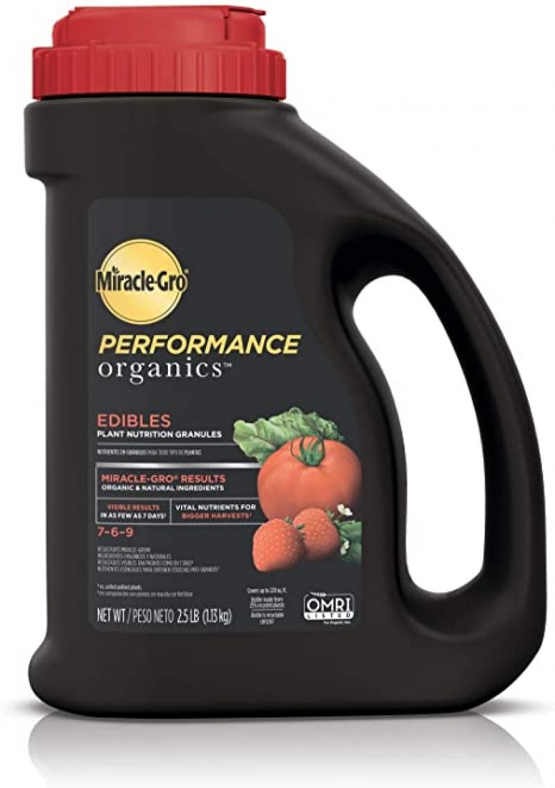 ihocon: Miracle-Gro Performance Organics Edibles Plant Nutrition Granules, 2.5 lbs.有機蔬果肥料