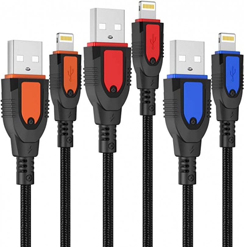 ihocon: Ofuca iPhone Charger Cable 10FT, 3Pack充電線