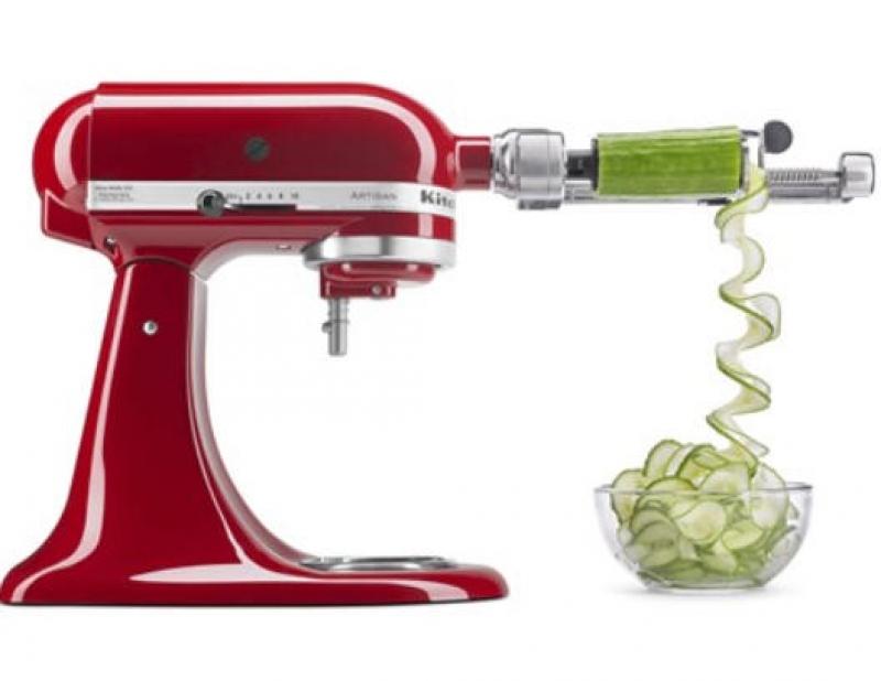 ihocon: KitchenAid KSM2APCQ Spiralizer Plus Attachment 削皮, 去核, 切片配件