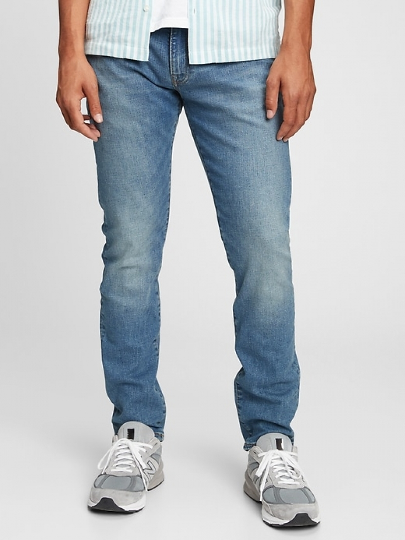 ihocon: Gap GapFlex Slim Jeans With Washwell男士修身牛仔褲