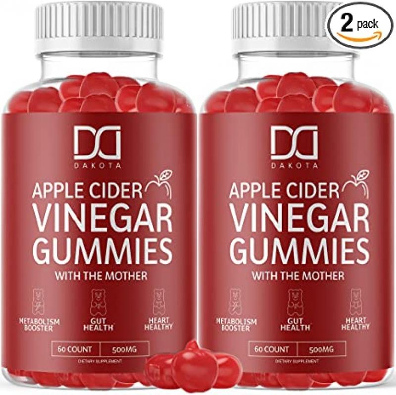 ihocon: Dakota Organic Apple Cider Vinegar Gummies ACV Supplement for Weight Loss with The Mother with Beet Root, Vitamin B12, Folate, VIT B6, Folic Acid (2 Pack) 有機蘋果醋軟糖