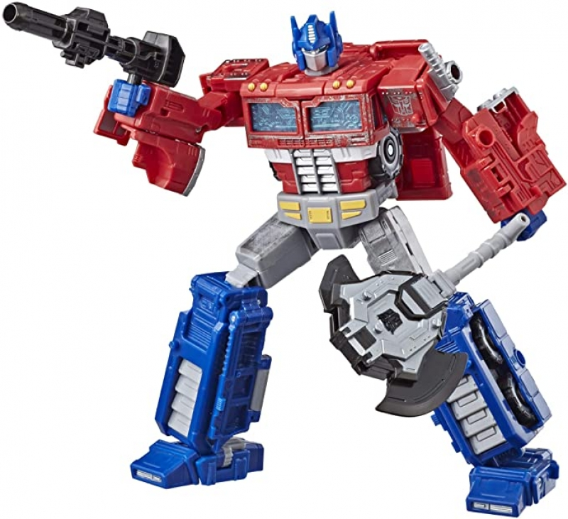 ihocon: 變型金剛Transformers Generations War for Cybertron: Siege Voyager Class Wfc-S11 Optimus Prime Action Figure