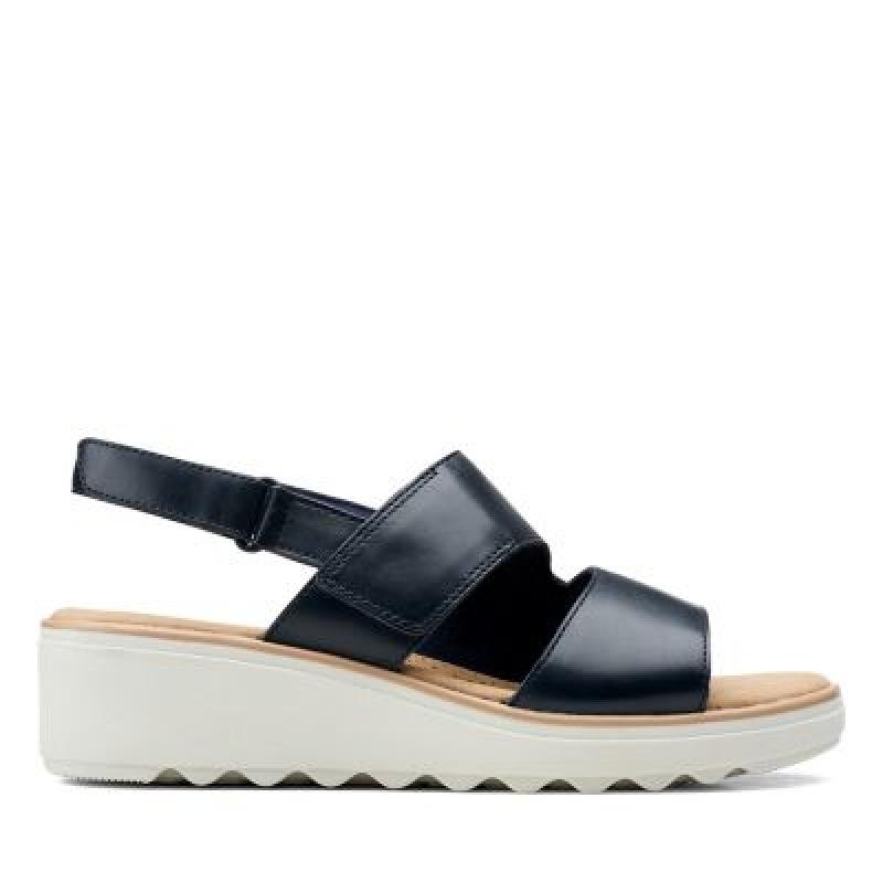 ihocon: Jillian PearlNavy Leather 女鞋