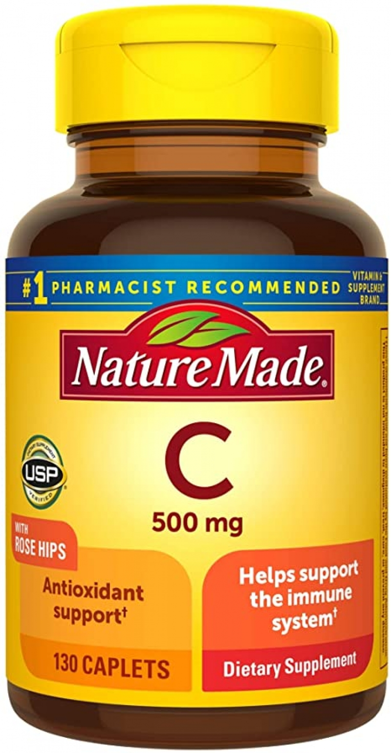 ihocon: Nature Made Vitamin C 500 mg Caplets with Rose Hips, 130 Count to Help Support the Immune System