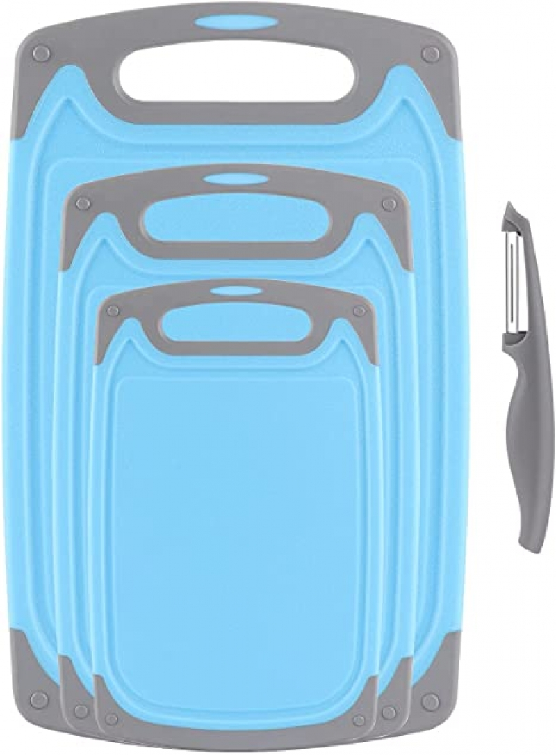 ihocon: ROTTOGOON Plastic Chopping Board Set 塑膠菜板3個及削皮器