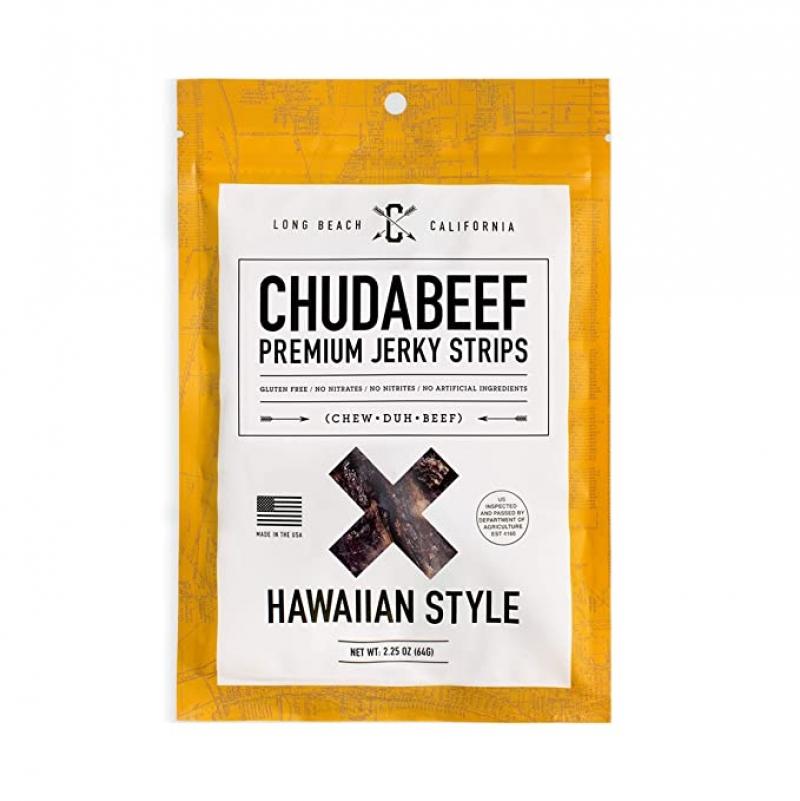 ihocon: Chudabeef Premium Beef Jerky, Hawaiian, (1) 2.25 oz.牛肉乾(夏威夷口味)