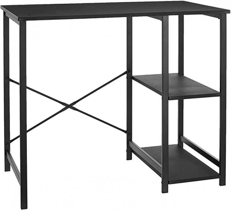 ihocon: Amazon Basics Classic Home Office Computer Desk With Shelves - 29.5 x 19.6 x 35.5 Inches 辦公桌/電腦桌