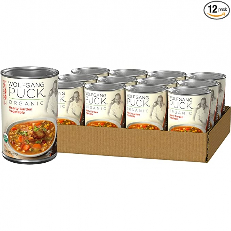 ihocon: Wolfgang Puck Organic Hearty Garden Vegetable Soup, 14.5 oz. Can (Pack of 12)   有機蔬菜湯