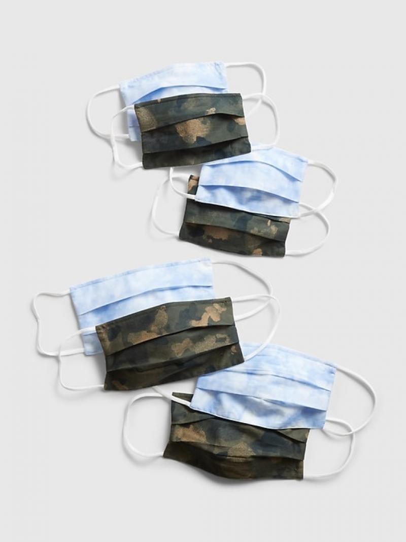 ihocon: GAP Family Unisex Full-Coverage Accordion Mask (8-Pack) 可重復使用大人及兒童布口罩