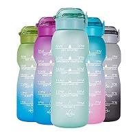 ihocon: NOOFORMER 50oz/0.4 Gallon Water Bottle 鼓勵飲水時間刻度水瓶