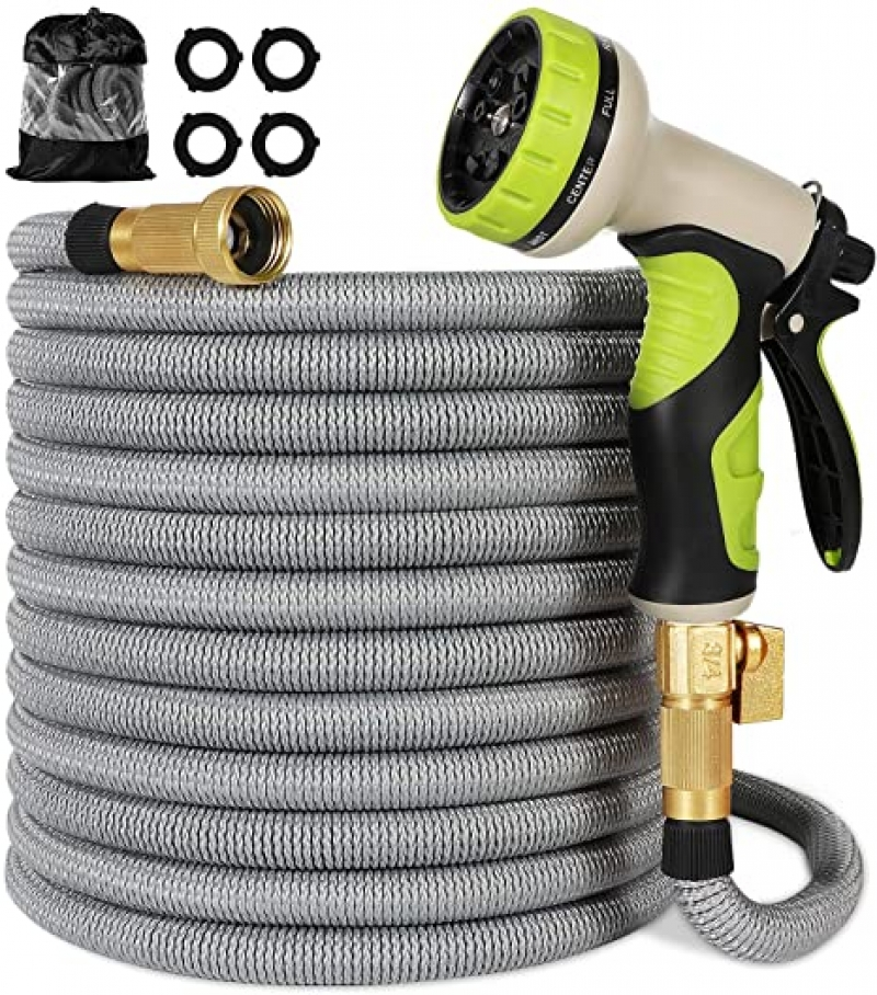 ihocon: Linquo Garden Hose 150 ft 伸縮澆花水管, 含噴水頭