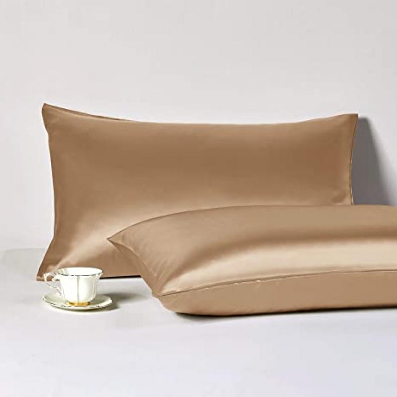 ihocon: HAPPYMOON Standard Pillowcases Set of 2, 100% Mulberry Silk 蠶絲/真絲枕頭2個
