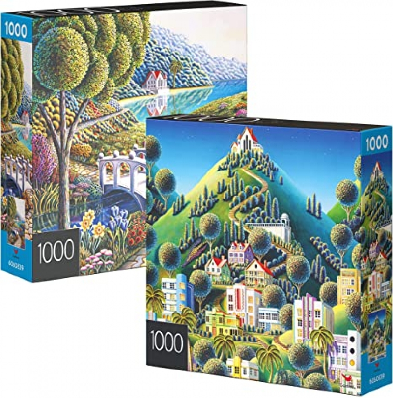 ihocon: Spin Master 2-Pack of 1000-Piece Jigsaw Puzzles 拼圖
