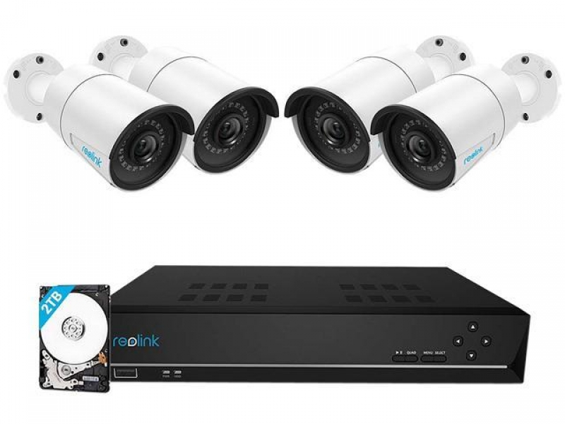 ihocon: Reolink 8CH 5MP PoE Home Security Camera System with 4 Security 5MP Outdoor Camera & 2TB HDD for 24/7 Recording居家安全監視系統