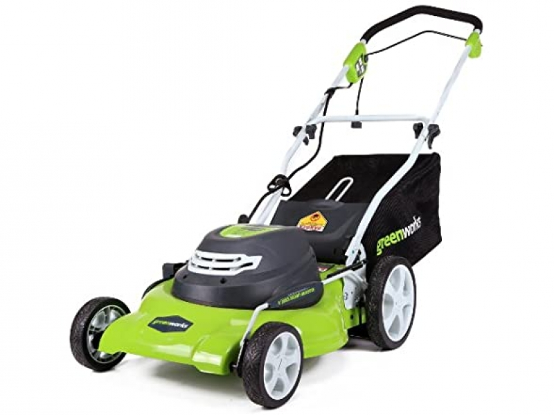 ihocon: Greenworks 25022 12 Amp 20-Inch 3-in-1 Electric Corded Lawn Mower 3合1 無線電動除草機
