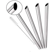 ihocon: SITANES Metal BOBA Straws, 4 PCS 0.5'' 不銹鋼吸管(波霸奶茶)