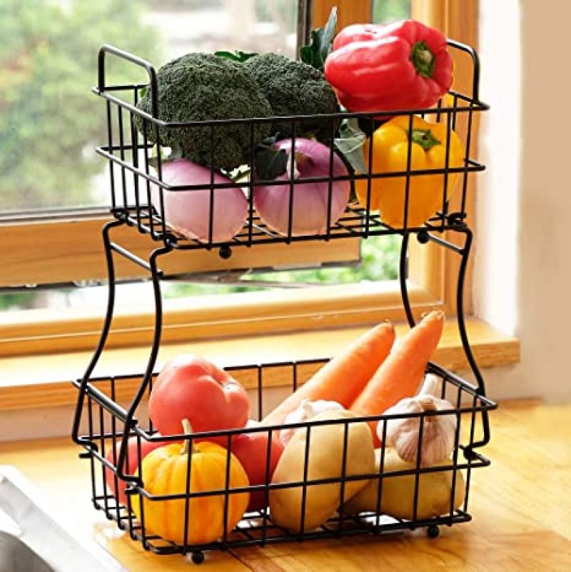 ihocon: DECLUTTR Fruit Basket Stand 雙層水果籃